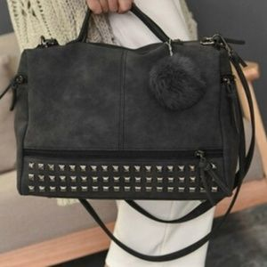 'Charlie' Vegan Leather Studded Crossbody